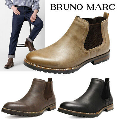 $34.20 • Buy Mens Casual Dress Chelsea Ankle Boots Leather Shoes Black Brown Size 6.5-10-15