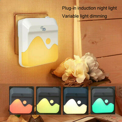 LED Wall Plug-in Night Light Lamp Automatic Sensor Electric Outlet • 8£