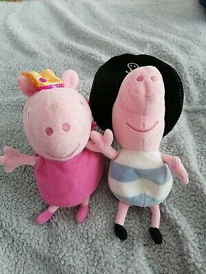 Peppa Pig And George Small Soft Toy Pirate And Fairy • 4£