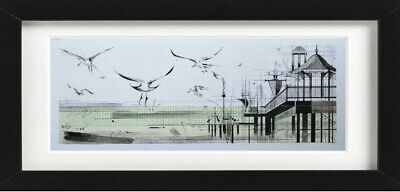 £89.99 • Buy Original Brighton Pier Seagull Painting Drawing Mounted And Framed