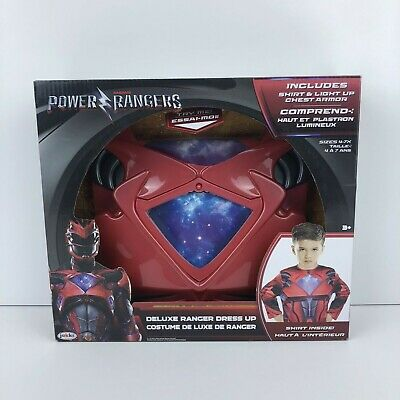 £21.39 • Buy Power Rangers Red Ranger Deluxe Dress Up Set With Light Up Armor New