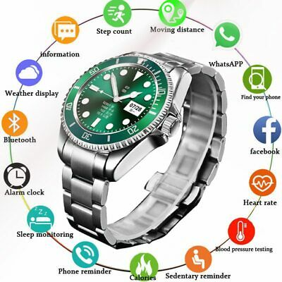 AU182.99 • Buy LIGE Smart Watch Men Smartwatch LED Full Touch Screen For Android IOS Heart