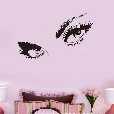 £3.65 • Buy Beauty Stickers Girl Eyes Wall Sticker For Beauty Salon Decor Wall Decal KY