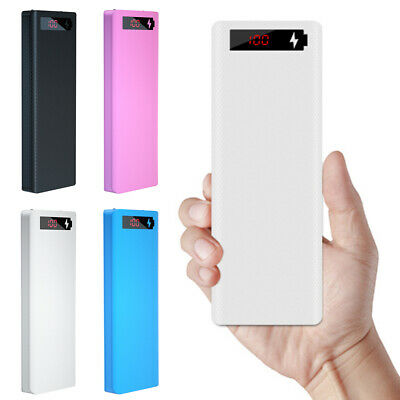 AU14.20 • Buy 18650 External Power Bank Dual USB Portable Battery Charger Shell Mobile Phone
