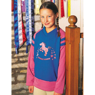 £16.99 • Buy Dublin Cuddly Ponies Stars Childrens Horse Riding Top Sweat Shirt Kids/childs