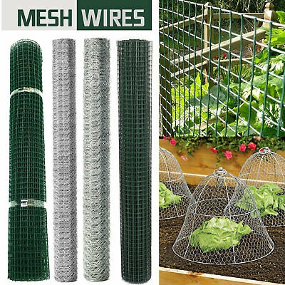 Wire Mesh Galvanized Plastic Square Garden Fencing Plant Netting Barrier Safety  • 12.99£