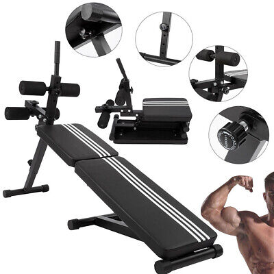 Foldable Weight Bench Lifting Press Dumbbell Barbell Exercise Bench Home Fitness • 69.99£