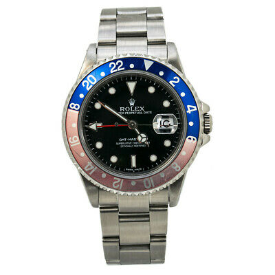 $ CDN13882.30 • Buy Rolex GMT Master II 16710 Pepsi Stainless P Serial Automatic Mens Watch 40MM