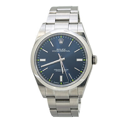 $ CDN9233.28 • Buy Rolex Oyster Perpetual 114300 Blue Dial Mens Automatic With Box&Papers 39MM