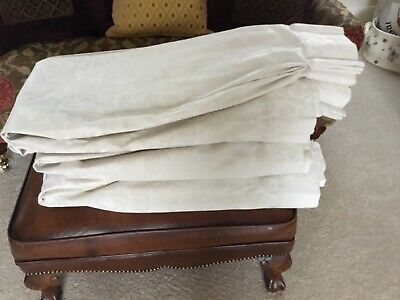 £40 • Buy Montgomery Ivory Damask Pinch Pleat Curtains, Excellent Condition