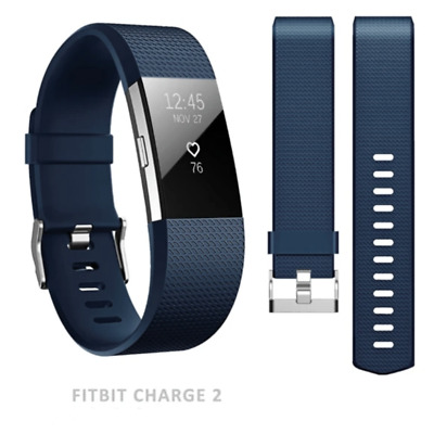 $ CDN7.37 • Buy SMALL NAVY Band Buckle For Fitbit Charge 2 Luxury Replacement Silicone Strap