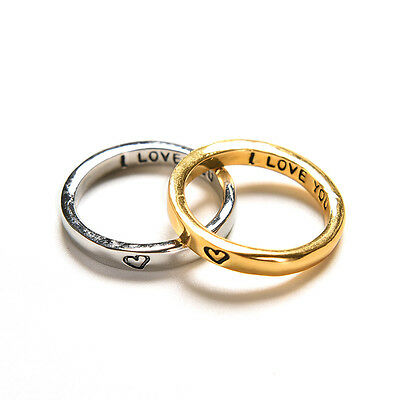 £4.49 • Buy Rarity Forever Love Gold & Silver Heart Couple Rings His And Her Promise Nt