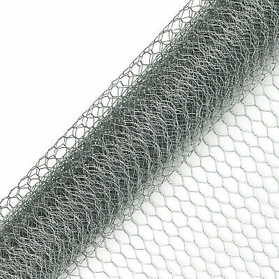 Galvanised Chicken Wire Mesh Netting Rabbit Cage Aviary Fence Plant Net • 12.99£