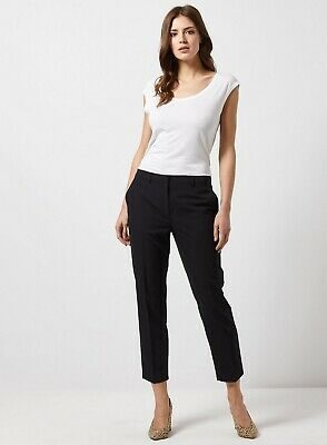£11.99 • Buy Dorothy Perkins Womens Black Ankle Grazer Trousers Bottoms Pants Cropped