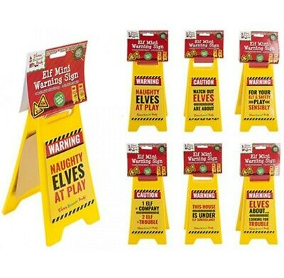 £4.49 • Buy Xmas Naughty Elf On The Shelf Caution Sign - Watch Out Elves Are About
