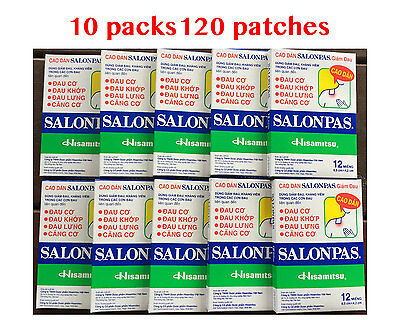 AU23.80 • Buy Salonpas Patch Hisamitsu Pain Relieving  - Made In Vietnam 10 Boxes 120 Patches