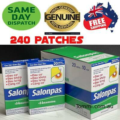 AU44.50 • Buy Salonpas Patch Hisamitsu Pain Relieving 20 Boxes 240 Patches Express Post Avail