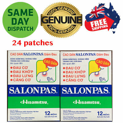 AU8.95 • Buy Salonpas Patch Hisamitsu Pain Relieving 2 Boxes 24 Patches Made In Vietnam