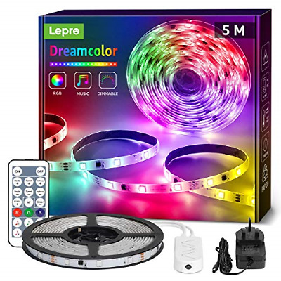 Lepro Dreamcolour LED Strip Lights With Remote, RGBIC Colour Changing, 6 Music • 23.64£
