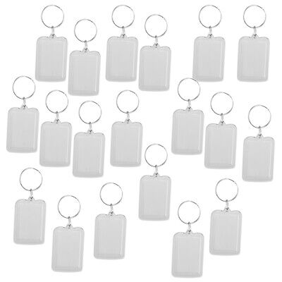 £5.90 • Buy   Oblong Blank Clear Acrylic Keyring Make Your Own