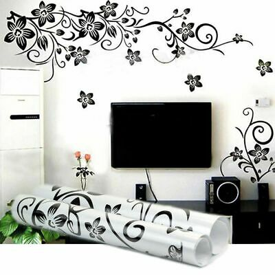 £6.87 • Buy Wall Stickers Decor Beautiful DIY Removable Vinyl Flowers Vine Mural Decal Art