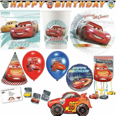 Disney Cars Kid's Birthday Party Decoration Set Compostable • 4.75£