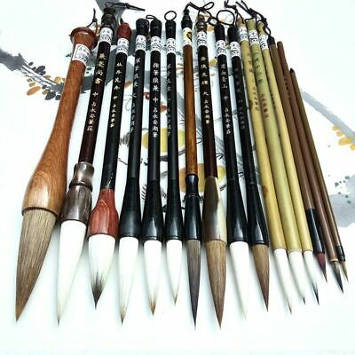 Calligraphy Chinese Traditional Brush Set Landscape Painting Brush Weasel Hair • 53.79£