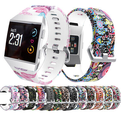 $ CDN10.35 • Buy Replacement Band Pattern Strap For Fitbit Ionic Wristband Metal Schnalle Tracker