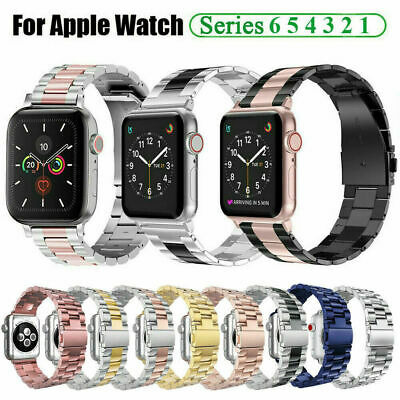 AU19.99 • Buy Metal Strap For Apple Watch Series 6 5 4 3 2 38-44mm Stainless Steel IWatch Band