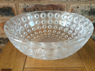 Stunning Rene Lalique Nemours Patterned Coupe Glass Bowl First Designed In 1929 • 895£