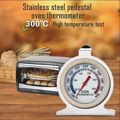 Stainless Steel Dial Oven Cooker Thermometer Temperature Gauge For Pizza BBQ • 4.69£