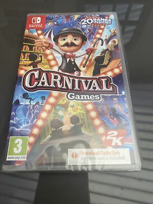 Carnival Games - CODE IN A BOX (Switch) Brand New & Sealed Free UK P&P • 20£
