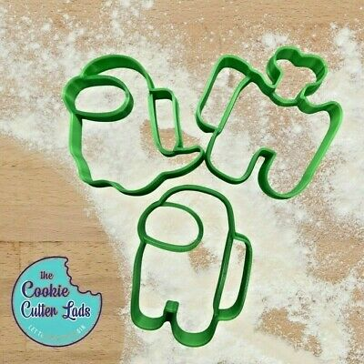 £9.99 • Buy Among Us Cookie Cutter Pastry Biscuit Icing Fondant Baking Gaming Fun SET OF 3