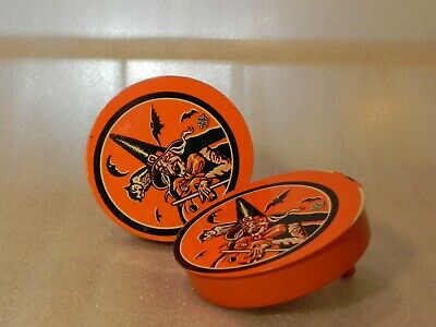 $ CDN26.64 • Buy Vintage Halloween Tin Lithograph Noise Maker Witch Bat Noisemaker U.S. Metal Toy