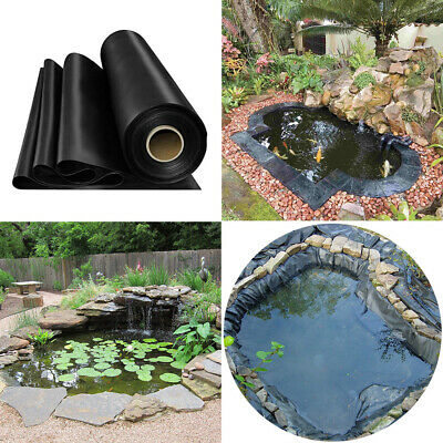 Garden Pool 0.35mm HDPE Liner Outdoor Fish Pond Liners Membrane Various Sizes • 55.14£