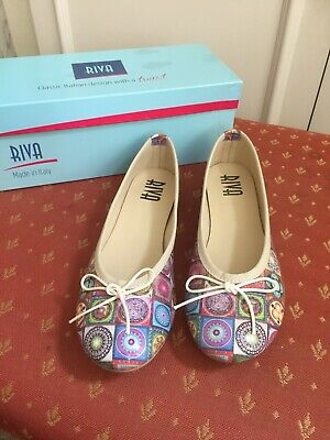 £29.99 • Buy Riva Allessia Mosaic Flats – Shoes, Size 38, UNWORN, New With Box, 'ballet Flat'