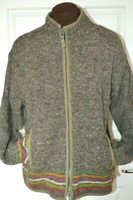 Pachamama Women's Size Small Wool Zip Fronted Lined Cardigan/Jacket  • 50£