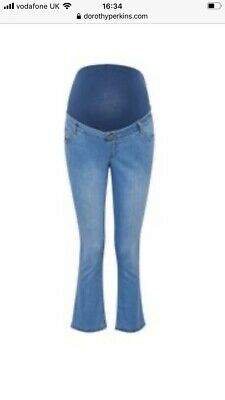 £9 • Buy Dorothy Perkins Maternity Blue Jeans 8 Crop Flare BNWT