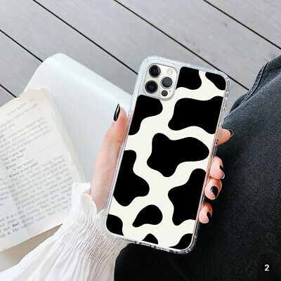 AU12.69 • Buy For Apple IPhone 13 Samsung S21 Huawei Lightning Cow Print GEL Case Cover 145-2