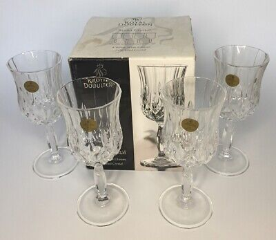 Royal Doulton Roma Crystal White Wine Glasses X 4 New In Box 24% Lead Crystal • 29.95£