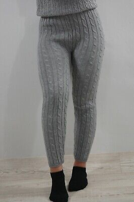£8.90 • Buy Ladies Women's Chunky Cable Knitted Pattern Thick Wool Warm Leggings UK
