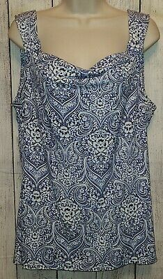 $ CDN19.02 • Buy White House Black Market Stretchy Sleeveless Blouse Top Shirt Size Large Blue