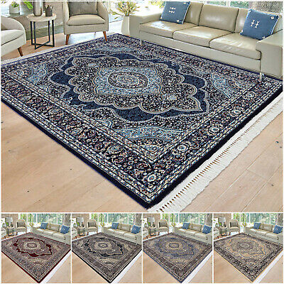 Large Traditional Rugs Bedroom Living Room Carpet Floral Vintage Hall Runner Rug • 120.89£