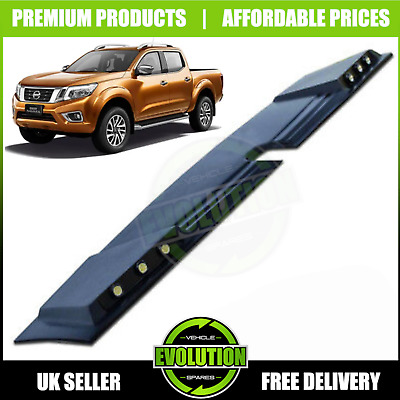 FITS NISSAN NAVARA NP300 2016+ FRONT ROOF SPOILER WITH LED's - LIGHT LED CAP • 114.99£