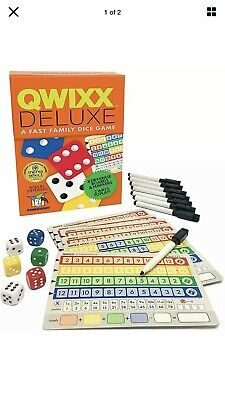 $ CDN25.31 • Buy Qwixx Deluxe Dice Game Gamewright GWI 7117 Roll & Write Fast Family Party Mixx