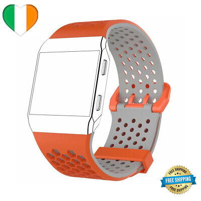 $ CDN5.65 • Buy For Fitbit Ionic Strap Replacement Wrist Band Watch LARGE / SMALL Orange & Grey