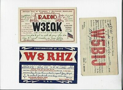 $ CDN6.34 • Buy 3 Qsl Cards One Money Posted 1931, Two 1938  Tx, Ohio, Md