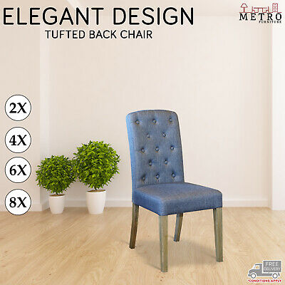AU458 • Buy 2 4 6 8 Dining Chairs Black Leather Air Grey Fabric Solid Oak Legs Kitchen, Cafe