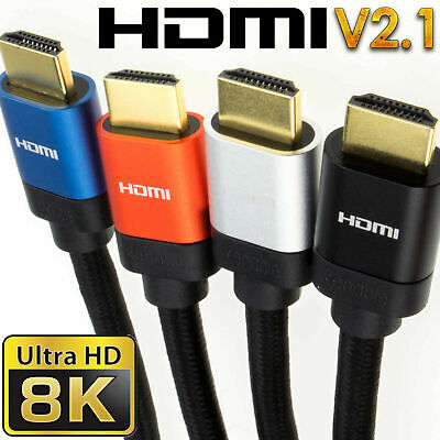 HDMI V2.1 Ultra High Speed HDR 8K/4K 48Gbps Performance Cables SkyQ/XBOX/PS4/PS5 • 6.69£