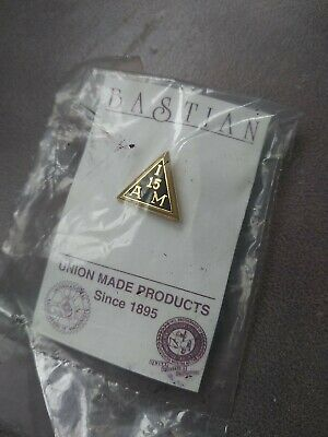 $8 • Buy Vintage I. A. M. 15 Year Machinist Union Made Pin New